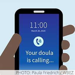 phone with incoming call